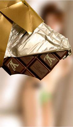 Designer chocolate by Lindt (Louis Vuitton)