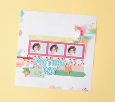 Picture Day Scrapbook Layout Page. Make It Now in Cricut Design Space