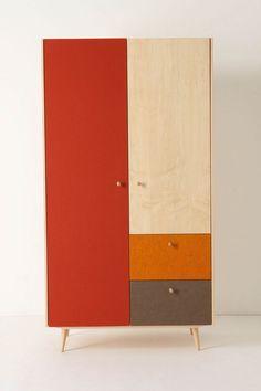 armadio a blocchi di colore