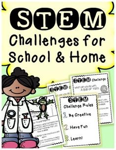 STEM challenges for school and home. Create from common materials and items..monthly!