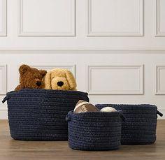 restoration hardware braided wool baskets