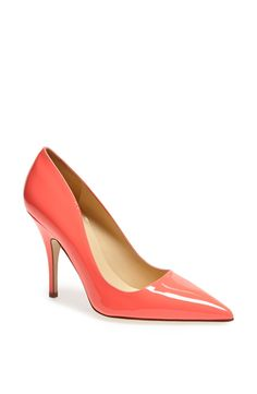 These pretty pink pumps with a pastel dress
