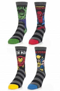 Mix Hulk  Spiderman  Ironman  amp  Wolverine Socks mens wedding socksUnder Armour Hulk Socks