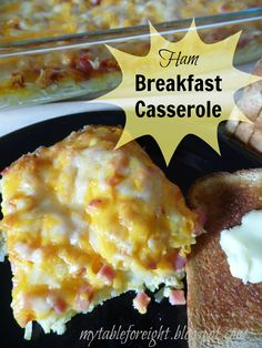 Ham Breakfast Casserole- make it the night before for an easy and delicious breakfast!