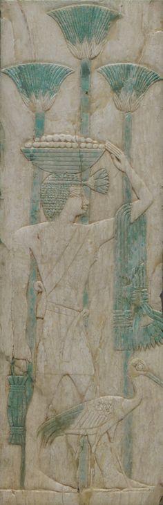 A safe Panel  - Egypt, Dynasty XXVI,  ivory