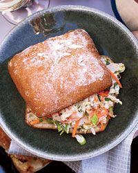 Miso-Shrimp Po' Boys Recipe on Food & Wine