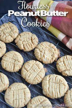 Flourless Peanut Butter cookies #recipe #glutenfree