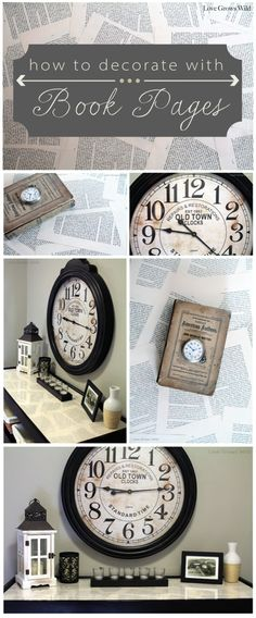 How to Decorate with Book Pages by www.lovegrowswild.com #decor #diy #vintage