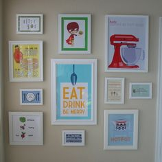 Printable kitchen art {someday I will be this cute.}