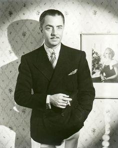 """Dapper""  in 1930s gentleman's style-- popular Hollywood actor William Powell"