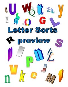 HoJo's five page example of alphabet letter sorts. Two 2-letter sorts, two 3-letter sorts, and one 4-letter sort. -- FREE