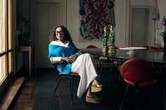 The inimitable gallerist Nina Yashar, from the L'AB story, To the Beat of Her Own Drum