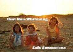 Best Non-Whitening Safe Sunscreens from  @groovygreenlivi
