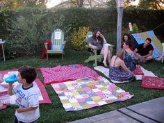 Hosting a backyard movie night (info)