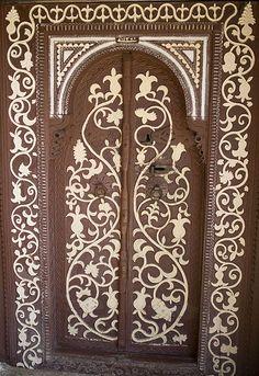 Door of House Taşören mosque. Turkey