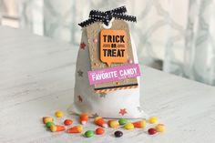 Halloween treat bag by Meghann with Elle's Studio exclusive Halloween Ephemera pack!
