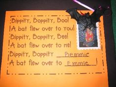 The most darling little phonemic awareness Halloween poem in the world. So cute for a class book!