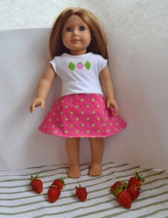 PACountryCrafts: Strawberry Shortcake Doll Dress