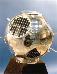 """June 22, 1960: GRAB-1, the world's first successful reconnaissance satellite, was launched.  Pictured here is the backup model for GRAB-1. See it on display in the """"Space Race"""" exhibition at the Museum in Washington, DC. histori bit, final frontier, historian apprentic, design object"""