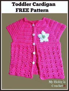 short sleeved toddler cardigan free crochet pattern