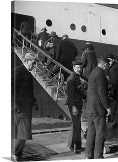 Second class passengers boarding RMS Titanic from the tender Ireland April-10th-1912.