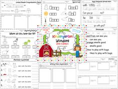 Many more goodies added to Unit 5 Week 3 of Kindergarten Wonders Reading as we go down on the Farm! You will find: * bulletin board signs highlighting concepts for the week * leveled readers comprehension checks * letter focus * beginning/ending sounds * phonemic awareness activities * writing traits that focus on organization * text evidence exercises * TONS of high frequency fun * workstation activities * rhyming * word families * differentiated grammar lessons for pronouns