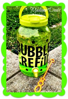 Check out how easy it is to make this super cute Bubble Refill Station!