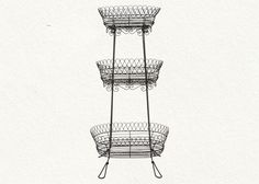 Wire plant stand available at Terrain