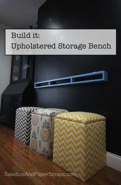 easi diy, end of bed storage bench diy, diy upholst, diy furniture bench, upholst storag, diy room storage, diy play storage, storag bench, storage benches