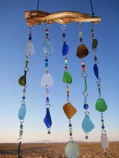 wind chime, bead, beach, craft ideas, sea glass, seaglass