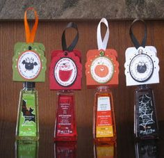 Handmade Halloween Treats; Hand Sanitizer Treats; Teacher Gifts; Stampin' Up!;Tamara's Paper Trail