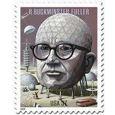 architect, bori artzybasheff, buckminst fuller, buckminster fuller, postag stamp, country girls, bucki fuller, the artist, stamps