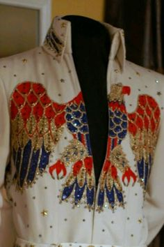 This is the embroidered American Eagle jumpsuit from 1974.