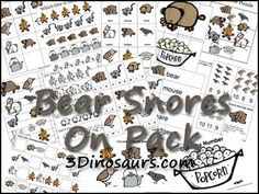 Free Bear Snores On Printable Pack. For ages 2 to 7 with over 30 pages of activities. 3Dinosaurs.com