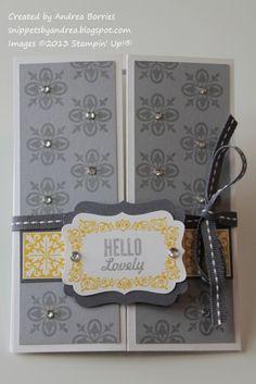 'Hello, Lovely' fancy fold - closed
