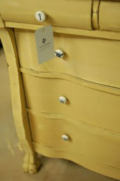 ASCP - mix of Old Ochre and Arles.  Love the bee knobs!
