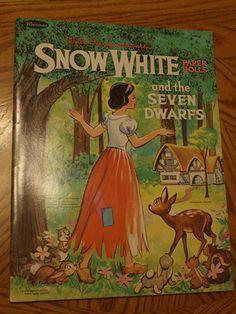 Snow White Seven 7 Dwarfs Disney Vintage Uncut Paper Doll Whitman | eBay