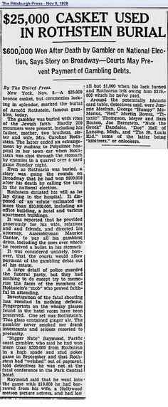 Arnold Rothstein (1882 - 1928) on Pinterest | Queens New ...