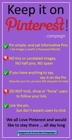 Keep it on Pinterest – Campaign