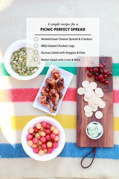 Pack the Perfect Picnic #theeverygirl #picnic #summer #healthy