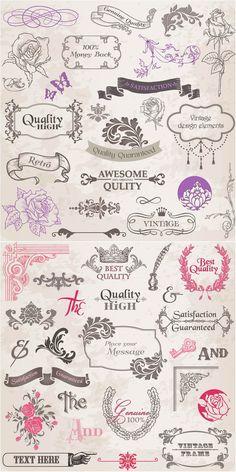 vintage graphics   Vintage graphic design elements vector   Vector Graphics Blog