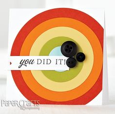 You Did It! card by Lindsay Amrhein - Paper Crafts Card Ideas for Paper Crafters; make cards, card sketch, congratulations