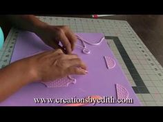 """▶ How to make a """"Baby onesie"""" in cold porcelain or gumpaste - YouTube"""