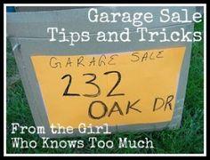 idea, help, organ, garages, garage sales, trick, yard sale, garage sale tips, garag sale