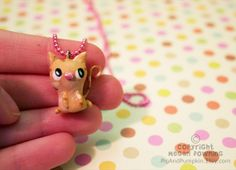 Charm  Spanky the Cat  Paperclay Charm  Choose by PigAndPumpkin, $21.00