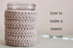 Liz Makes: Liz makes a mason jar cozy