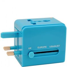 Universal Travel Adapter by Flight 001. This compact travel adapter will ensure that you never fry another gadget again.