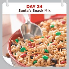 25 Days of Christmas Cheer :: Day 24 :: Santa's Snack Mix