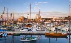 Boats moored at the town dock in Port Townsend, Wash. (Photo: PureStock/AGE Fotostock)