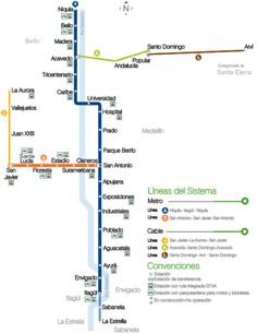 Medellin metro is the only subway system in Colombia. It has 2 surface lines, A and B, that cross the city from north to south and from down...